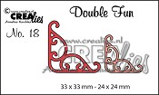 Double Fun stansen no. 18 hoekjes 4/ Double Fun dies no. 18 corners 4