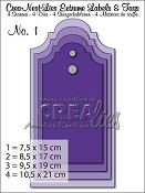 Crea-Nest-Lies Extreme Labels & Tags no. 1 Clock