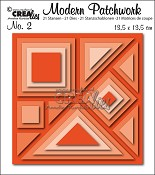 Modern Patchwork stansset no. 2 / Modern Patchwork die set no. 2