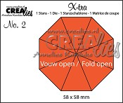 Stans X-tra no. 2 Vouw Open 8 delen / Die X-tra no. 2 Fold Open 8 parts