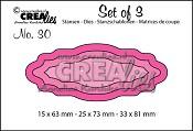 Set of 3 stansen no. 30 Labels 4 / Set of 3 no. 30 dies Labels 4