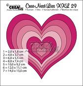 Crea-Nest-Lies XXL stansen/dies no. 29, Harten/Hearts