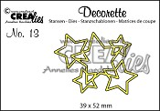 Decorette stans no. 13 In elkaar grijpende sterren / Decorette die no. 13 Interlocking stars