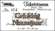Tekststans no. 104 Gelukkig Nieuwjaar