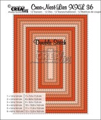Crea-Nest-Lies XXL stansen no. 36 / Crea-Nest-Lies XXL dies no. 36 Double Stitch Rectangles
