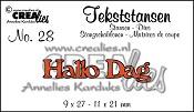 Tekststans no. 28 Hallo + Dag