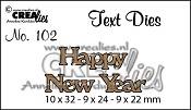 Text Die no. 102 Happy New Year