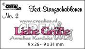 Text Stanzschablone no. 2 Liebe Grüße