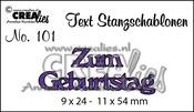 Text Stanzschablone no. 101 Zum Geburtstag