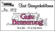 Text Stanzschablone no. 102 Gute Besserung