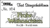 Text Stanzschablone no. 104 Frohe Weihnachten