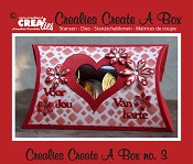 Crealies Create A Box stans/die no. 3, Kussendoosje / Pillowbox