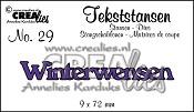 Tekststans no. 29 Winterwensen