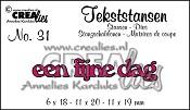 Tekststans no. 31 een fijne dag