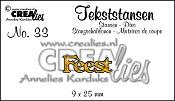 Tekststans no. 33 Feest