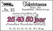 Tekststans no. 35 25-40-50 jaar