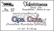 Tekststans no. 37 Opa Oma