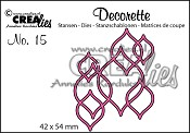 Decorette stans no. 15 In elkaar grijpende vormen / Decorette die no. 15 Interlocking shapes