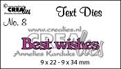 Text Die no. 08 Best wishes