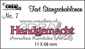 Text Stanzschablone no. 07 Handgemacht