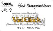 Text Stanzschablone no. 09 Viel Glück