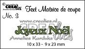 Matrice de coupe texte no. 3 Joyeux Noël