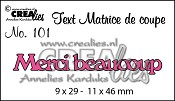 Matrice de coupe texte no. 101 Merci beaucoup