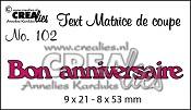 Matrice de coupe texte no. 102 Bon anniversaire