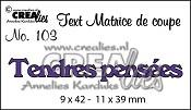 Matrice de coupe texte no. 103 Tendres pensées