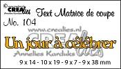 Matrice de coupe texte no. 104 Un jour à célébrer
