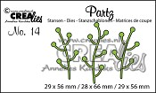 Partz stansen no. 14 Takjes / Partz dies no. 14 Twigs