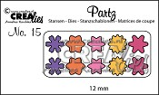 Partz stansen no. 15 Bloemetjes 12 mm / Partz dies no. 15 Flowers 12 mm