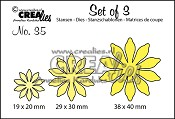 Set of 3 stansen/dies no. 35, Bloemen 17/ Flowers 17
