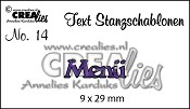 Text Stanzschablone no. 14 Menü