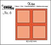Stans X-tra no. 6, 4 Vierkanten double stitch / 4 Squares double stitched