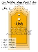 Crea-Nest-Lies Extreme Labels & Tags no. 8 with dots