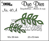 Duo Dies no. 40A, Blaadjes 8 spiegelbeeldig / Leaves 8 mirror image