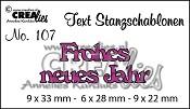 Text Stanzschablone no. 107 Frohes neues Jahr