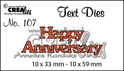 Text Die no. 107 Happy Anniversary