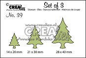 Set of 3 no. 39 Kerstbomen dun / Christmas trees thin