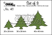 Set of 3 no. 40 Kerstbomen dik / Christmas trees wide