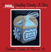 Crealies Create A Box stans no. 10 Cupcakebox / Crealies Create A Box die no. 10 Cupcake box