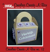Crealies Create A Box stans no. 12 Gablebox / Crealies Create A Box die no. 12 Gable box