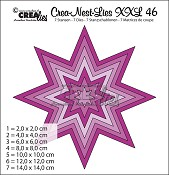 Crea-Nest-Lies XXL stansen no. 46 Ster/ Crea-Nest-Lies XXL dies no. 46 Star