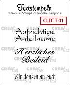 Deutsche Textstempeln T 01