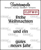 Deutsche Textstempeln W 01