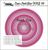 Crea-Nest-Lies XXL stansen/dies no. 49, Cirkels met dubbele stippen/Circles with double dots