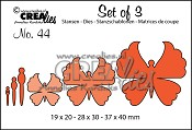 Set of 3 stansen/dies no. 44, Vlinders 6 / Butterflies 6