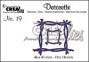 Decorette stans no. 19, Twijgen / Decorette die no. 19, Twiggs