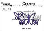 Decorette stans no. 43, Vlinders 5 / Decorette die no. 43, Butterflies 5